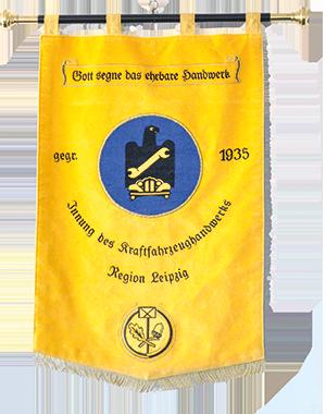 Innungsfahne der Innung des Kraftfahrzeughandwerks Region Leipzig