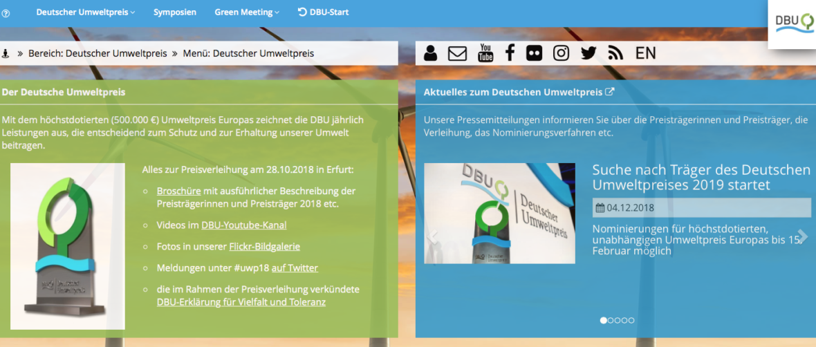 Screenshot - DBU Homepage